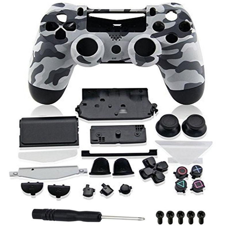 Boutons de rechange pour manette Playstation 4 en plastique de couleur unie