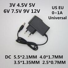 AC 110-240V DC 3V 4.5V 5V 6V 7.5V 9V 12V 1A 어댑터 전원 공급 장치 12V 1A 변환기 충전기 어댑터 LED 빛 스트립 cctv에 대 한