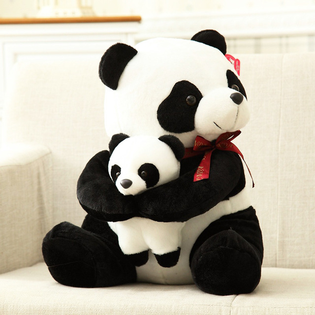Gift 1pc 30cm cartoon movie panda mother and son with baby plush doll soft hold pillow stuffed toy girl birthday present airport чемодан тележка airport 64 см голубой 2 колеса