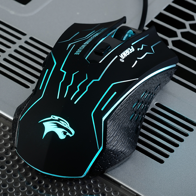3200DPI Silent Click USB Wired Gaming Mouse 5