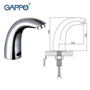 Image 5 - GAPPO bathroom Sensitive Basin Faucet Torneira Water Mixer basin sensor taps automatic  faucet touchless basin mixer GA517