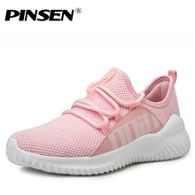 PINSEN New Fashion Summer Women Casual Shoes Lace-Up Breathable Flat Shoes Sneakers Women Trainers Basket Femme zapatillas mujer(China)