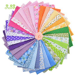 35pcs/lot Plain Thin Cotton Fabric Patchwork For DIY Quilting Sewing Fat Quarters Bundle Tissue Telas Tilda Needlework 50*50cm