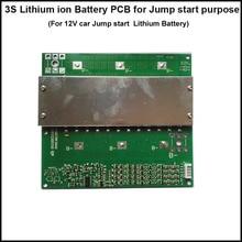 3 S 11.1 V או 12.6 V ליתיום קפיצת starter סוללה BMS ו PCB עם 80A קבוע וזרם פריקה 800A דופק הנוכחי