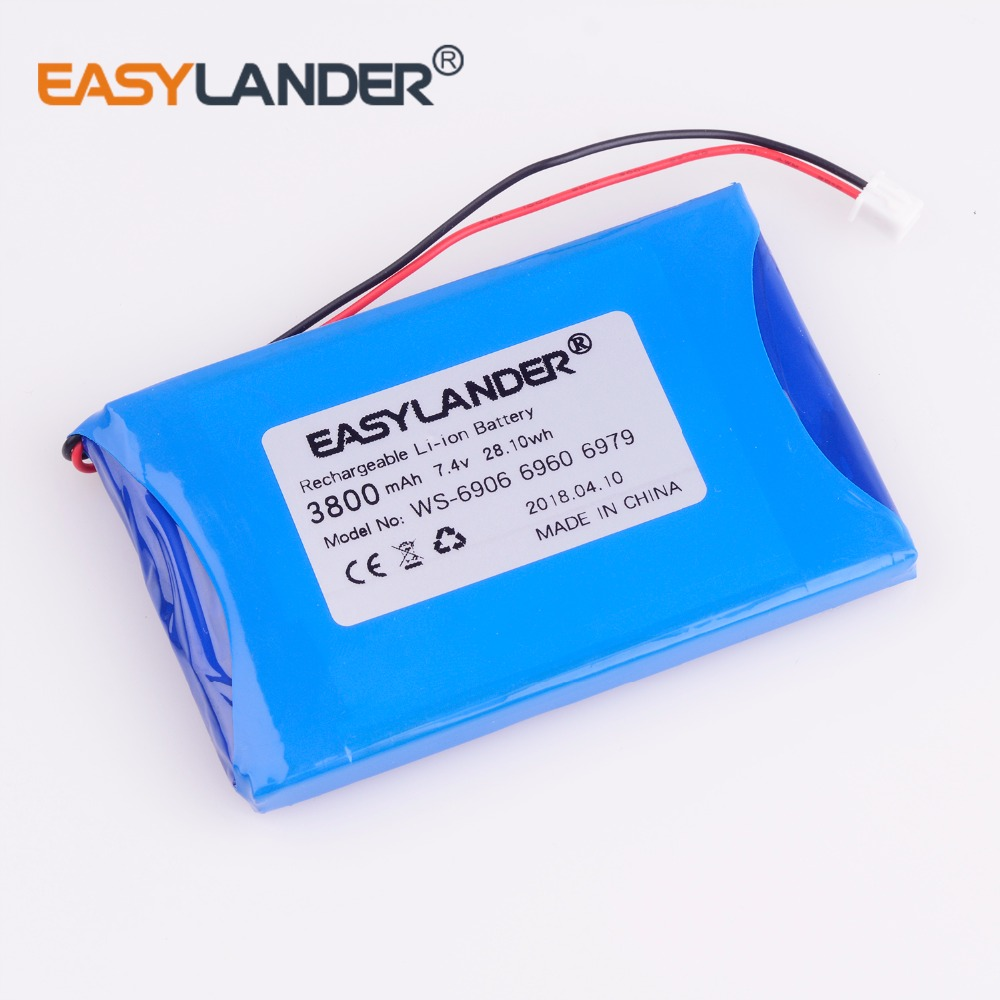 high capacity 7.4V 3800mAh battery For satlink WS-6908 WS-6906 WS-6909 WS-6905 WS-6912 WS-6918 WS-6936 WS-6969 WS-6960 WS-6979 megavox ws 06a25