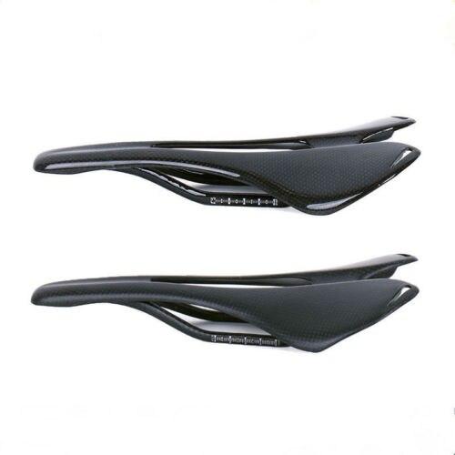 TOSEEK Carbon Fiber MTB//Road Bike Bicycle Hollow Seat Saddles Rail Oval Matte 3K