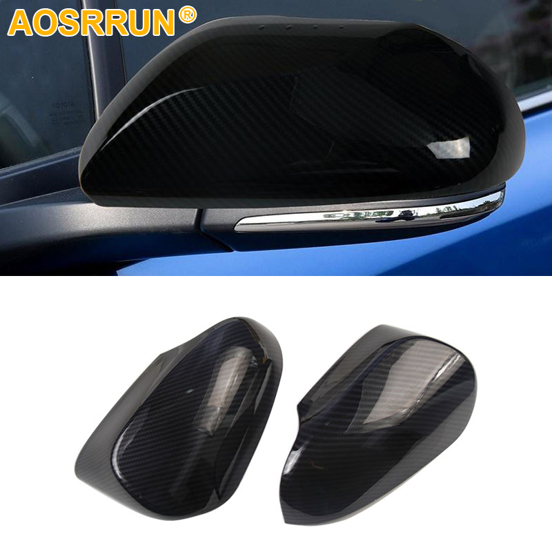 Carbon fiber style protection of the rearview mirror cover Car Accessories For Toyota CHR C HR 2017 2018