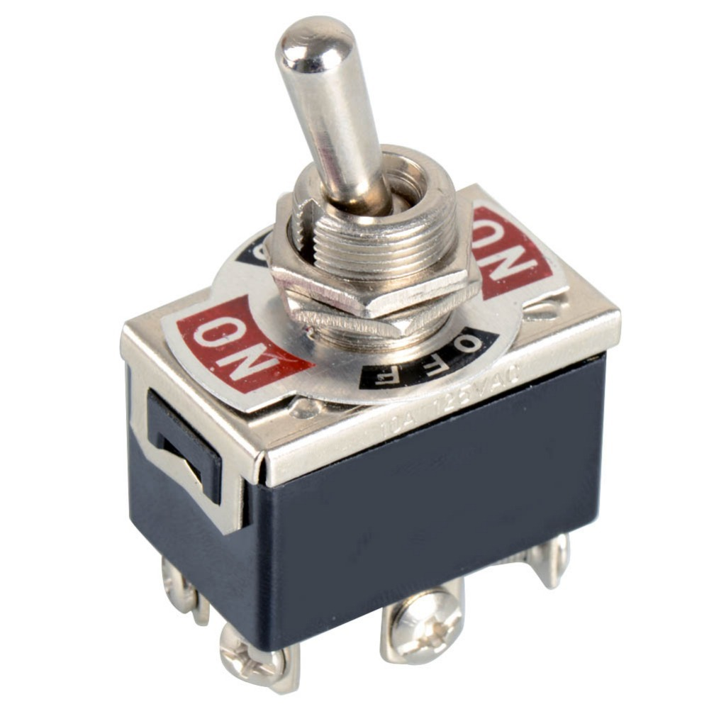 1 xBlack 6 Pin Toggle DPDT ON OFF ON SCHALTER 15A 250 V Mini ...