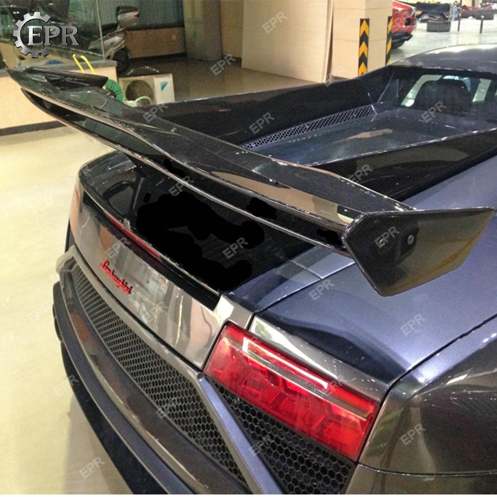 Exterior Parts Disciplined Carbon Fiber Rear Wing Lip For Lamborghini Gallardo Lp550/lp560/lp570 Spe Style Trunk Spoiler Body Kits Tuning Trim Accessories