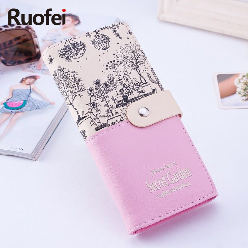 2017 Secret Garden Style Women Wallets Ladies Leather Purse Trunk Card Holder Female Carteras Mujer Monederos Women's Money Bag