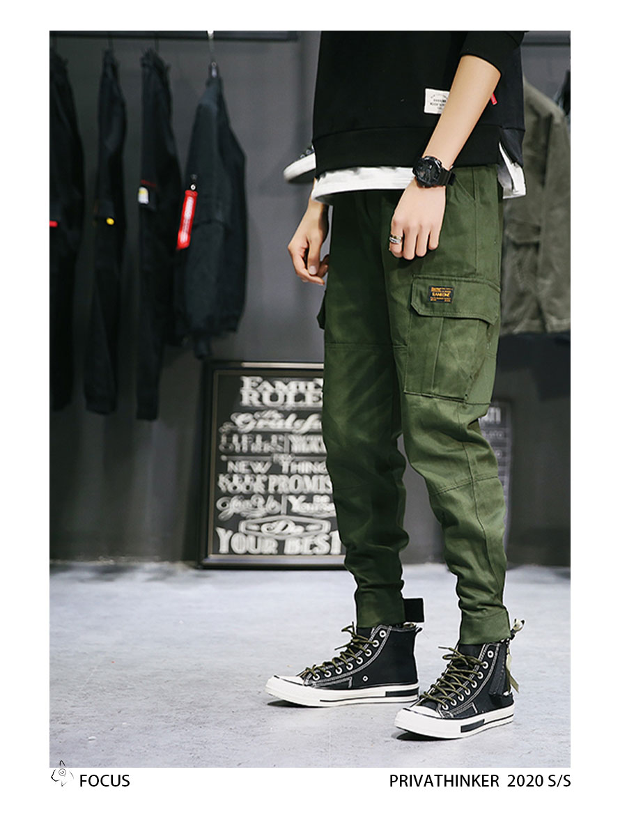 Privathinker Cargo Pants Men 2020 Mens Streetwear Joogers Pants Black Sweatpant Male Hiphop Autumn Pockets Trousers Overalls 69
