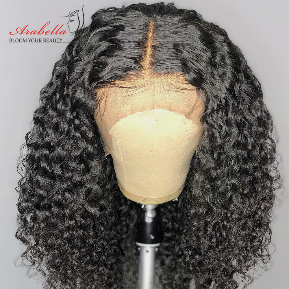 Brazilian Deep Wave 360 Lace Front Wig Natural Color Arabella Remy Hair Lace Front Human Hair