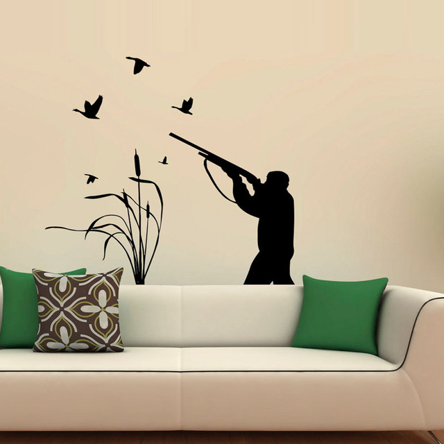 Bird Hunting Vinyl Art Wall Stickers Active Hobbies Hunter Home Decoration Wall  Decal For Modern Living