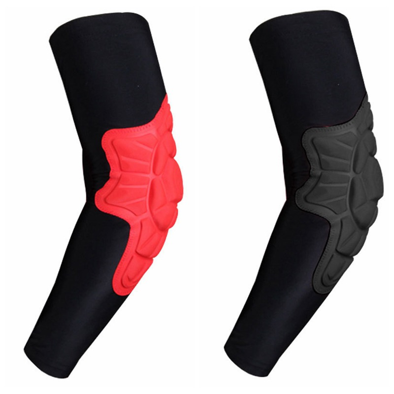 Breathable Elbow Brace Pads Guard Compression Padded Arm Support Sleeve Protector For Skateboarding Basketball Horse Riding
