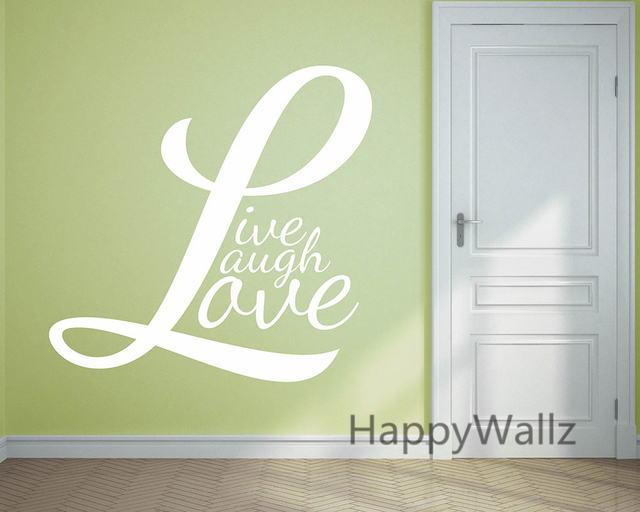 Motivational Quote Wall Sticker Live Laugh Love DIY Inspirational Life Quotes Vinyl Wall Art Decals Hot & Motivational Quote Wall Sticker Live Laugh Love DIY Inspirational ...