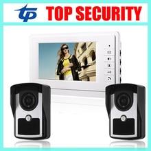 Good quality 7 inch color screen video door phone door bell system IR night version camera video intercom access control system