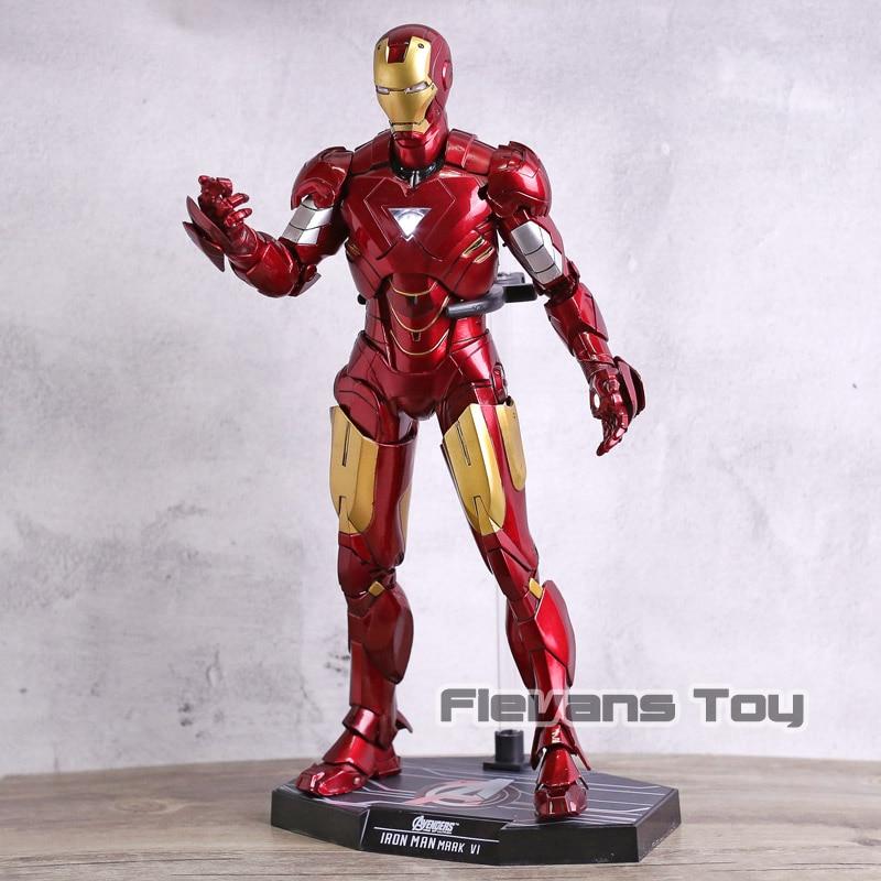 HC jouets Avengers fer homme marque VI MK 4 PVC figurine avec lumière LED mobile modèle Collection jouet cadeau de noël