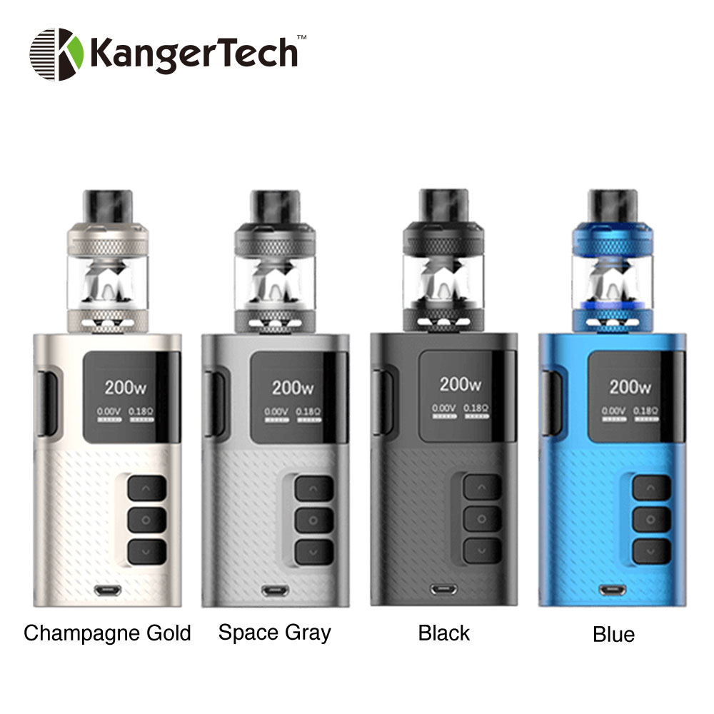 New Original 200W Kangertech Ripple TC Kit Power By Dual 18650 Battery Box Mod Vape Kit
