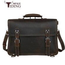 Мужской портфель из натуральной кожи crazy horse деловая сумка