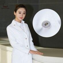 Korean version of plastic surgery Korean hospital semi-permanent tattoo beautician work clothes white coat long sleeve doctor cl