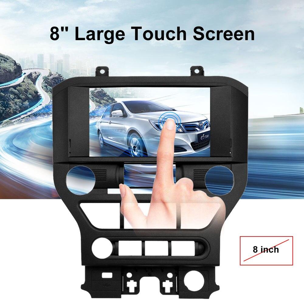 8 Большой Сенсорный экран автомобиля 2 Din gps навигации мультимедиа играть для Ford Mustang 2015 2016 2017 + бесплатная Северной америка карта + бесплатная...