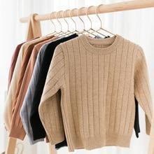 Для мальчиков и девочек свитера осень-зима детские вязанные свитера и пуловеры Повседневное Детский кардиган Топы BC341