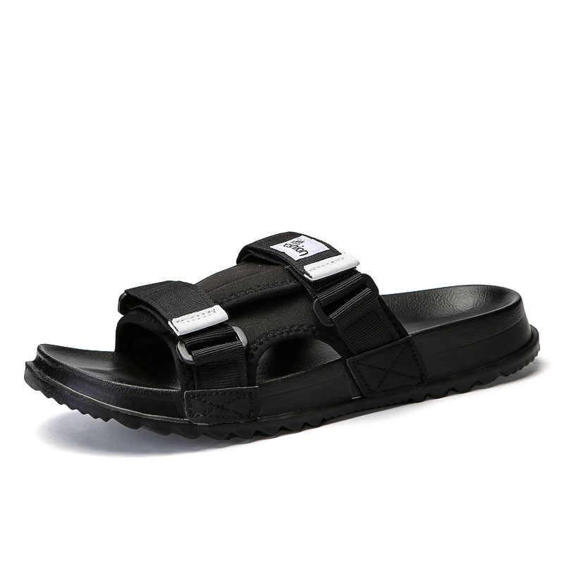 8550752210f ... 2019 Summer Mens Slides Fashion Beach Slippers Men Lightweight Flip  Flops Men Outdoor Anti-Slip ...