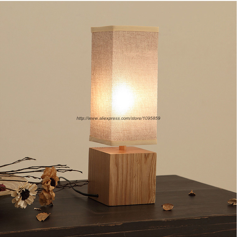 Free Shipping Modern Square Wood Table Lamps Lights Bedroom Wooden Reading  Desk Lighting. Table Lamp Modern Wood Promotion Shop for Promotional Table Lamp