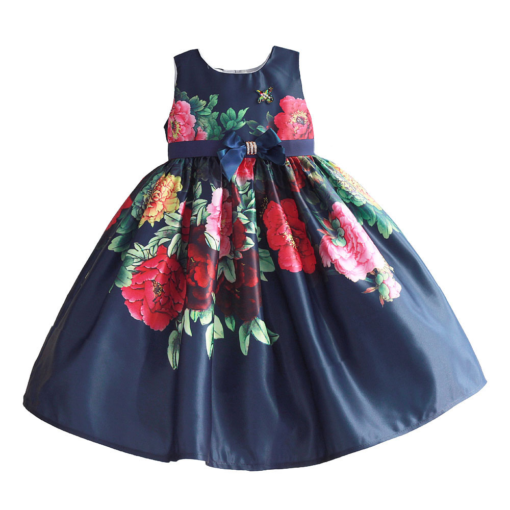 Flower Girl Dresses Summer Baby Girls Party Dress Children Wedding Dress Brand Princess Costumes for Kids Clothes Vestidos 3-9T lcjmmo new girls party dresses summer 2017 brand kids bow plaid dress princess costumes for girl children clothes 2 7 years