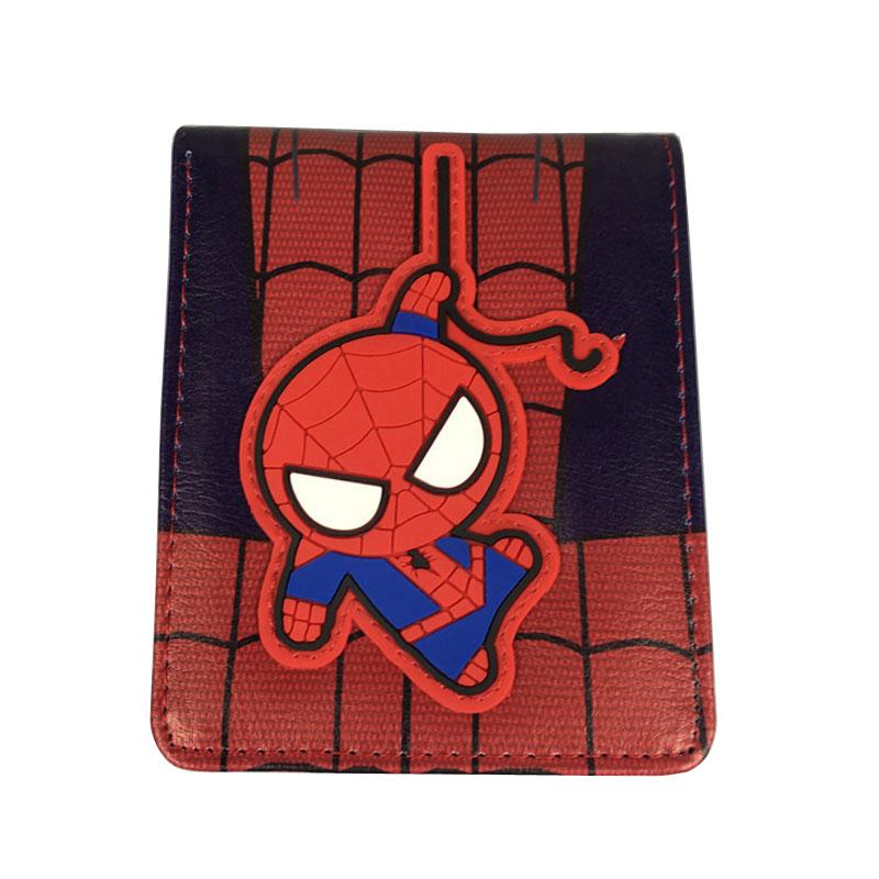 Marvel Spiderman Purse Lovely Cartoon Anime Short Wallets carteira Captain America Deadpool Batman Flash Leather Short Wallet dc marvel comics anime purse super hero deadpool wallet avengers superman captain america batman iron man leather short wallets