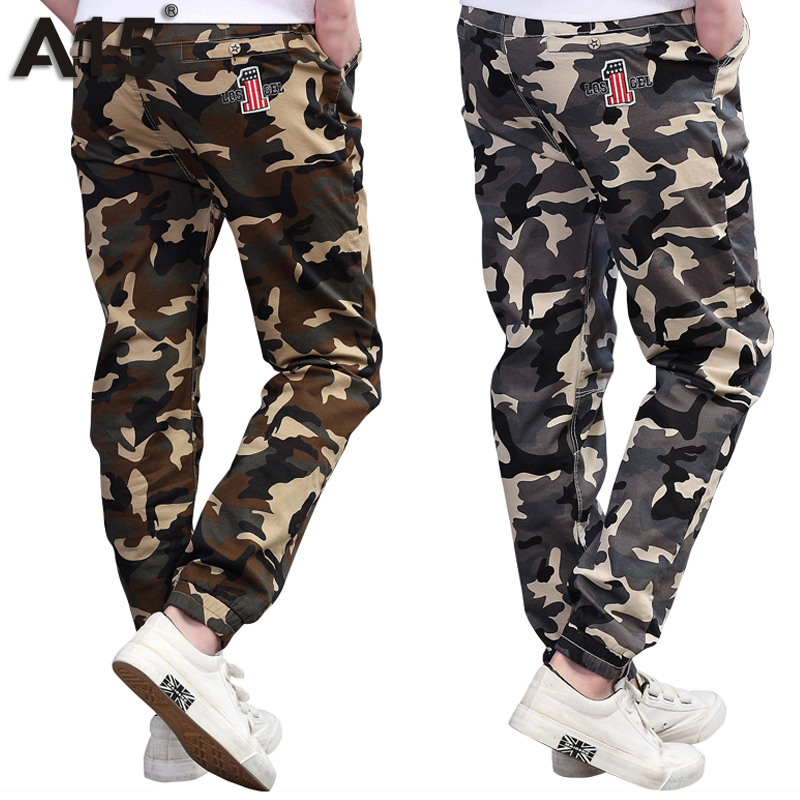 A15 Teenage Boy Clothing Kids Camouflage Trousers