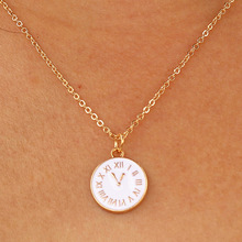 Fashion Cute Tiny Time Clock Pendant Necklace For Women Gold Chain Choker Necklace Lady Girl Bijoux Jewelry Wedding Gift fashion cute girl picture pocket watch with necklace pendant clock chain jewelry gifts lxh