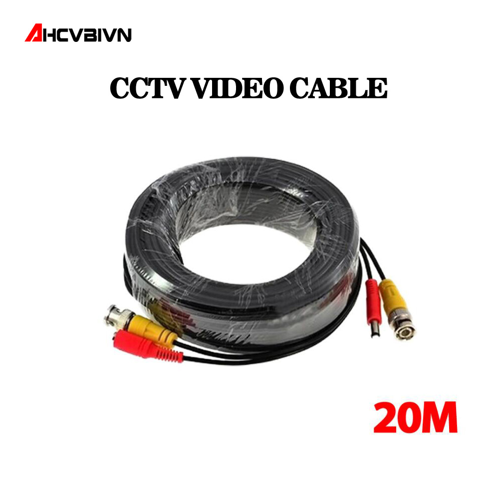 65ft(20m) BNC Video Power Siamese Cable for Surveillance CCTV Camera Accessories DVR Kit sunchan 165ft 50m cctv bnc dc plug video power siamese cable for surveillance dvr kit for security camera