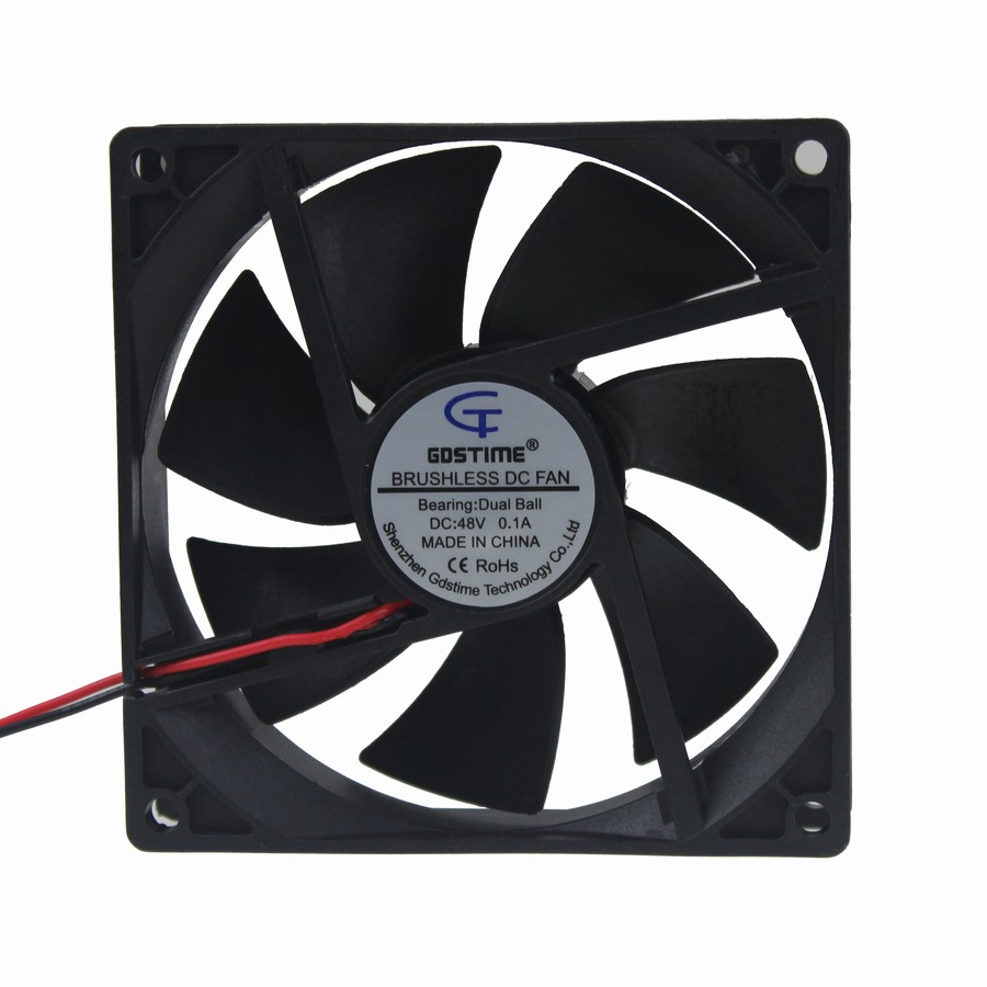 30Pcs Gdstime Double Ball 2 Wire 8025 8cm 80x80x25mm 80mm 48V DC Brushless Cooling Fan in Fans Cooling from Computer Office