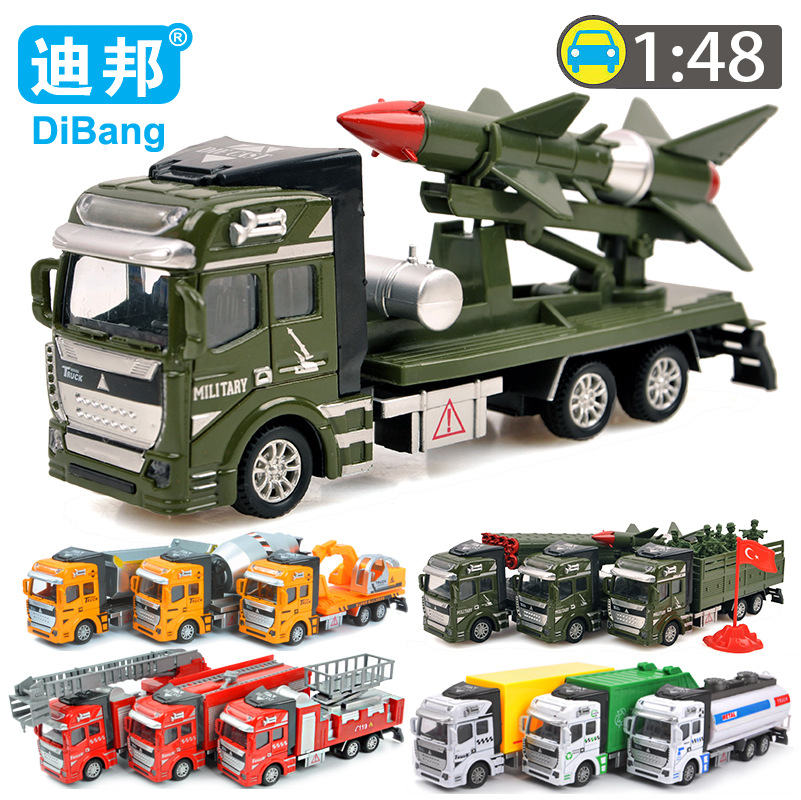 1-6 years old toys for children 1:48 alloy + plastic model car engineering toy car kids toys