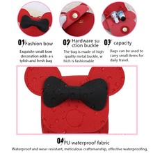 Arsmudi Bag 2018 New Fashion Cartoon Cute Mickey Bow Single Shoulder Diagonal Bag For Children Solid Color Small Crossbody Bag