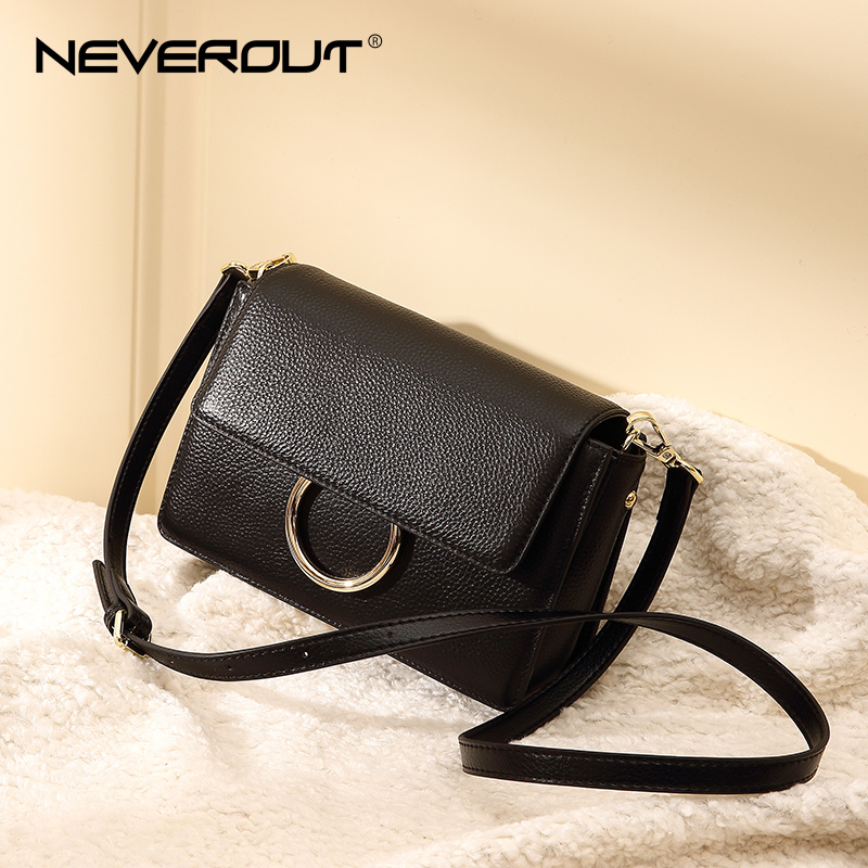 NEVEROUT High Quality Genuine Leather Shoulder Bag Candy Color Women Crossbody Bags Sac a Main Luxury