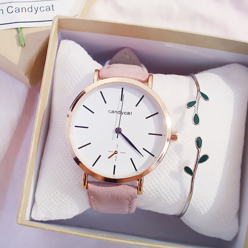 Retro style small fresh fresh female watch female student Korean version simple academic school in Women 39 s Watches from Watches
