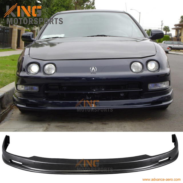 For ACURA INTEGRA MUGEN STYLE PU FRONT BUMPER LIP SPOILER BODY - Body kits for acura integra