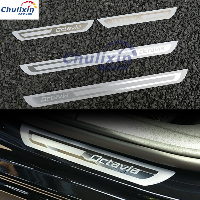 For Skoda Octavia A5 A7 2007 2008 2009 2010 2011 2012 2013 2014 Welcome pedal door sill stainless steel car Accessories 90l army tactical bag large capacity outdoor hiking backpack military pack camouflage camping assault rucksack