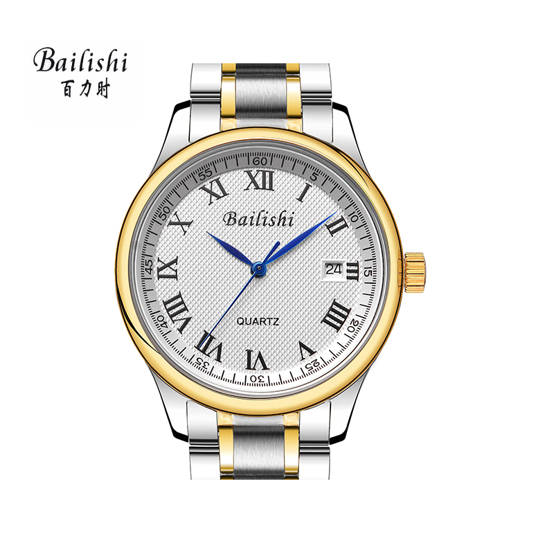 BAILISHI New Brand Men Watches Male Silver Stainless Steel Casual Wrist Watch Mens Quartz Watch Waterproof relogio masculino bailishi top luxury brand men watches diamonds hour stainless steel sports wrist watch male causal quartz male watch waterproof