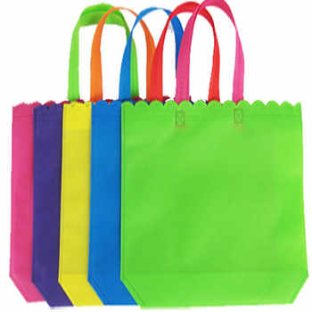 2019 New Design 500pcs/lot Reusable Non Woven Grocery Bag Recycling Shopping Bag Free Shipping for Gifts Trade Show Daily Use