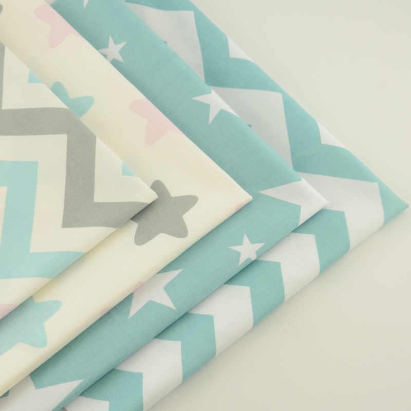 Folha de Cama do hotel 4PCS 40cm x 50cm Medidor de Luz Branca e Azul de Algodão Patchwork Conjunto Tecido Costura vestuário Pano Home Textile Artesanato