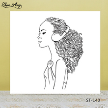 Music Girl Transparent Rubber Stamp/Seal for DIY Scrapbooking Photo Album Decorative Card Making Clear Stamp Supplies