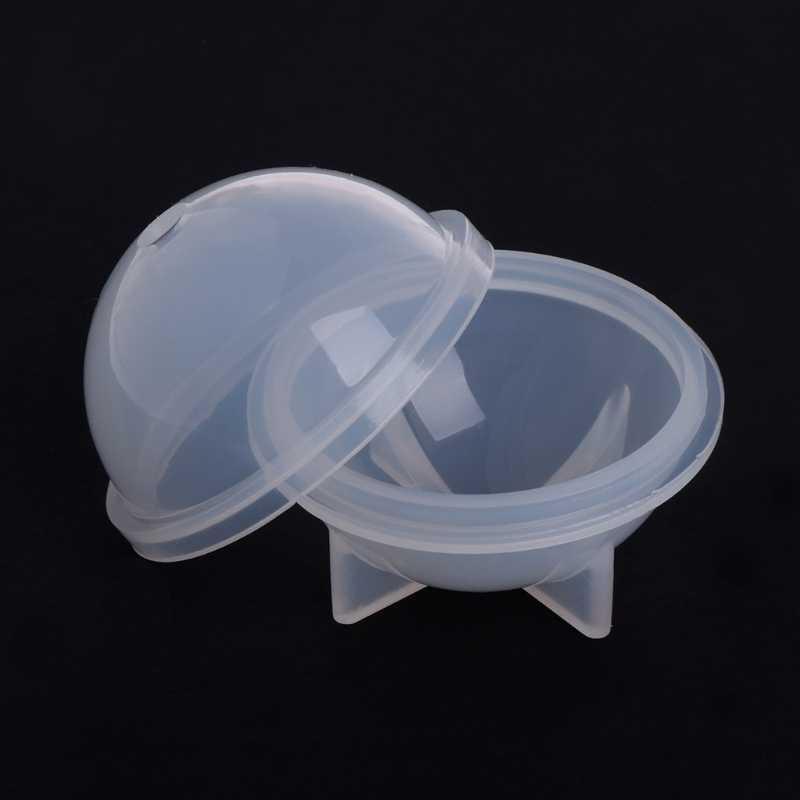 Estéreo esférico silicona molde joyería que hace esferas DIY resina decoración artesanías