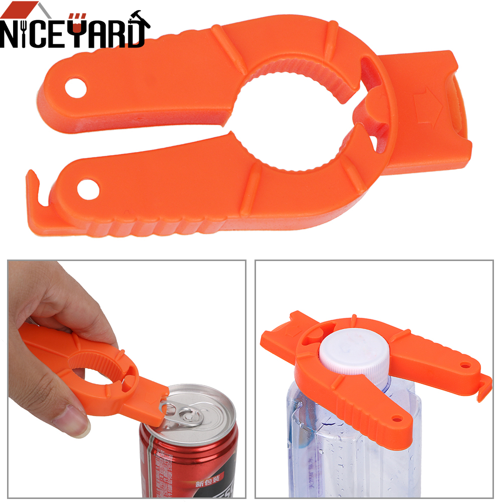 NICEYARD Multifunctional Creative Can Opener Canned Drink Manual Non-slip Bottle Opener Plastic Kitchen Gadgets