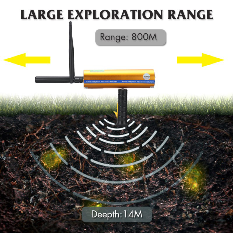 2019 New Product 2 Antennas Long Range  Gold And Diamond Detector Metal Detectors Gold Detector  3D Metal Detector