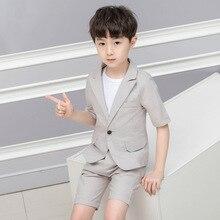 2019 Summer  new childrens clothing wholesale boy suit leisure boys Cotton kids summer clothes ALI 305