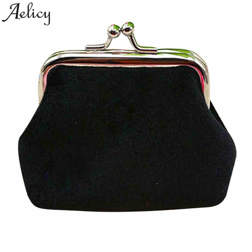 Aelicy Mewah Kualitas Tinggi Warna Candy Printing Dompet Koin Wanita Korduroi Kecil Dompet Pemegang Koin Dompet Tas Genggam Tas Tangan Tas