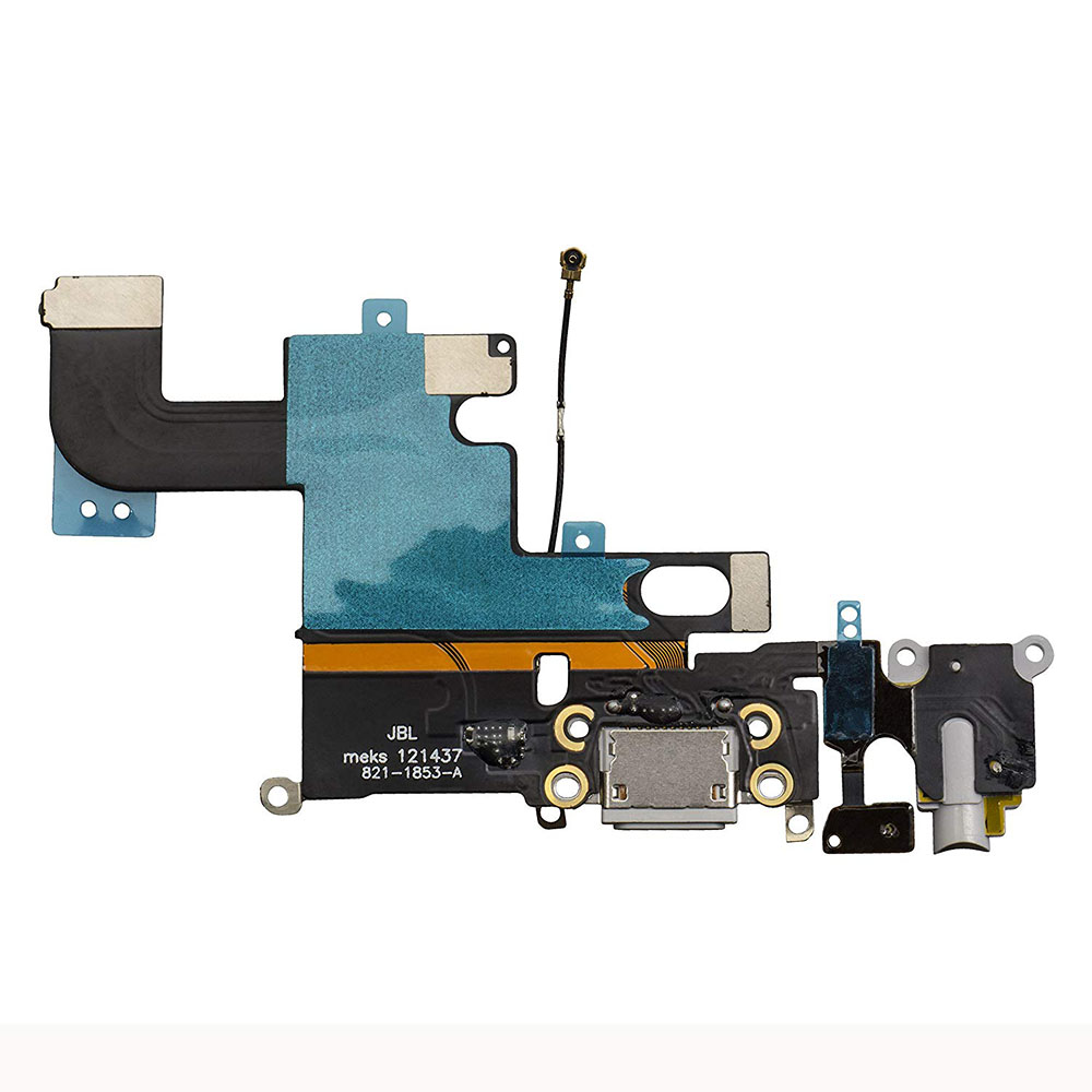 1pcs For IPhone 6 6 Plus 6s 6s Plus USB Charging Dock Port Flex Cable With Microphone And Headphone Audio Jack Repair Parts